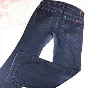 7 For All Mankind Blue Stitched Dojo Jeans 27